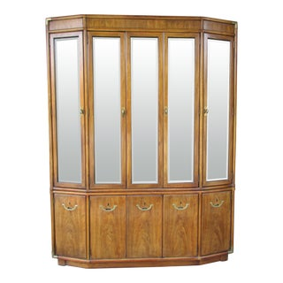 20th Century Campaign Drexel China Cabinet For Sale