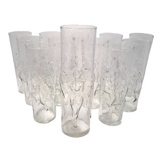 Vintage Libbey LaFemme Nude Glasses - Set of 12