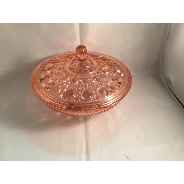 Vintage Peach Glass Dish For Sale - Image 4 of 10