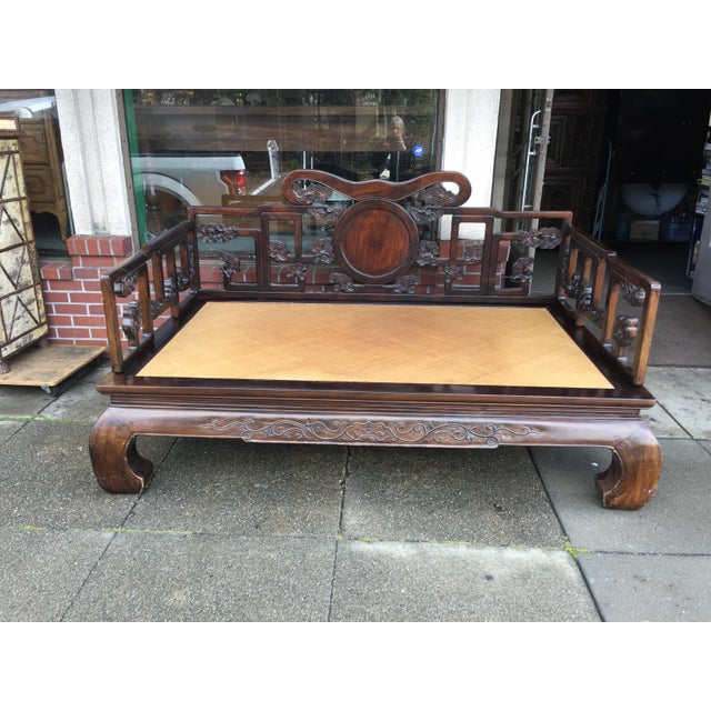 Antique Carved Opium Bed - Image 2 of 11