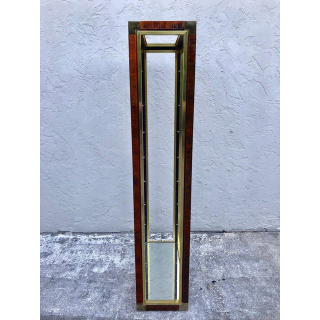 Metal Midcentury Brass and Acid Washed Étagère, Attributed to Mastercraft For Sale - Image 7 of 10