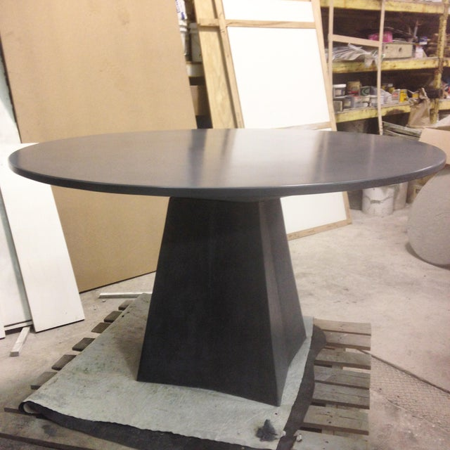 Modern Vasa Concrete Dining Table For Sale - Image 6 of 6