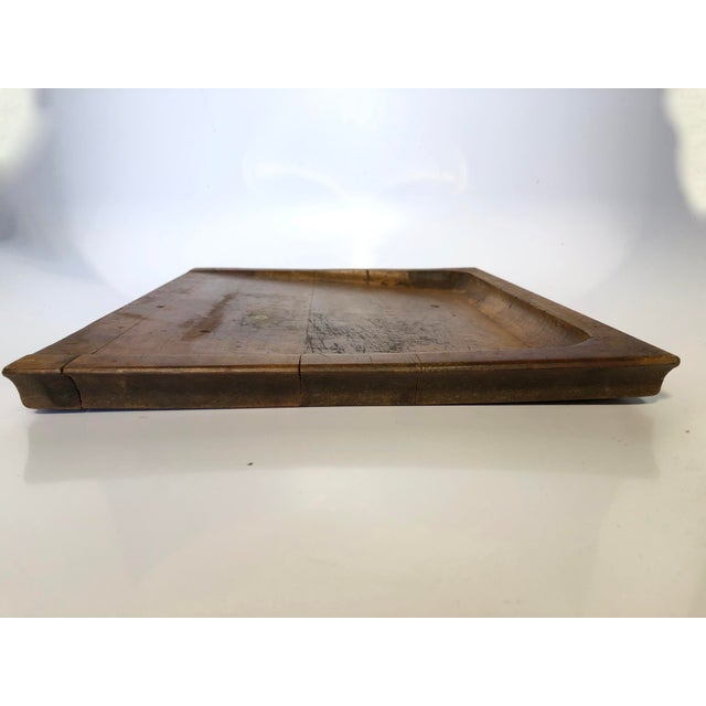 Vintage American Noodle board or bread board. Very good aged patina. Three sided high edge. Unique piece.