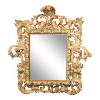 Rare and Important Genovese Baroque Mirror