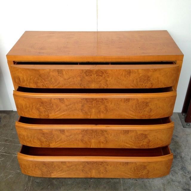 Art Deco Burl Wood Dresser - Image 5 of 5