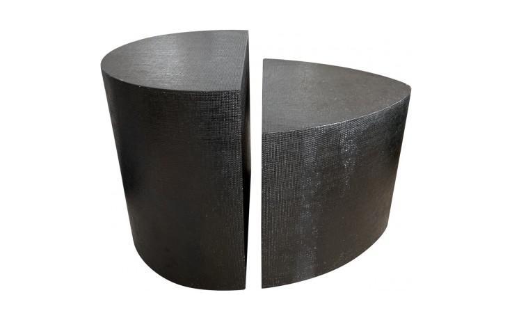 1970s Modern Karl Springer Textured Side Tables   2 Pieces