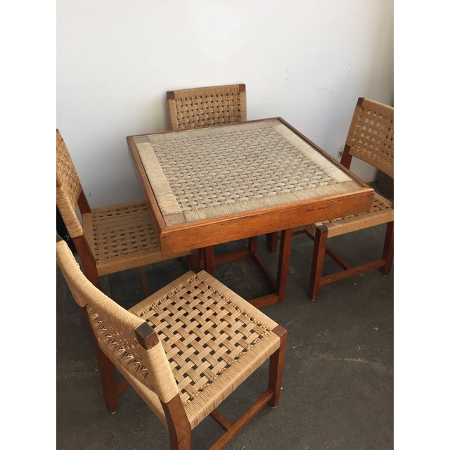 Mid-Century Modern Mid Century Jute Dining Set For Sale - Image 3 of 10