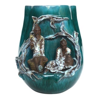 Marcello Fantoni Ceramic Figural Vase For Sale