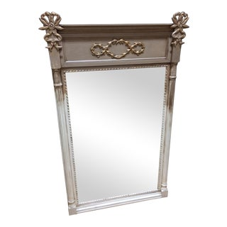 Vintage Two-Toned Mirror With Bows For Sale