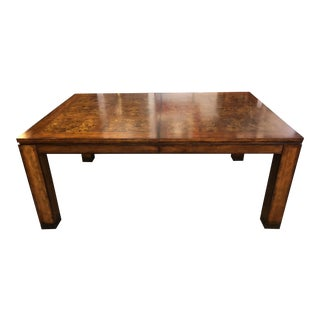 Contemporary Burlwood Dining Table