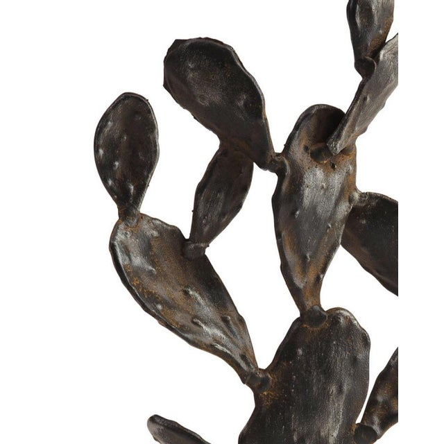 Boho Chic Metal Cactus Sculpture For Sale - Image 3 of 6