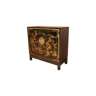 Drexel Heritage Black Lacquer Chinoiserie Style Cabinet Preview
