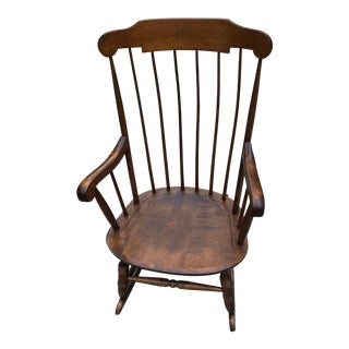 20th Century Americana Nichols and Stone Bent Back Rocking Chair For Sale