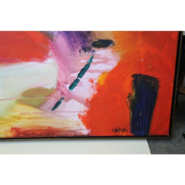 Red Caldwell Abstract Scene Oil Painting For Sale - Image 4 of 8
