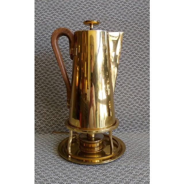 Tommi Parzinger Brass Coffee Server Set For Sale - Image 11 of 11