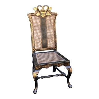 Chinese Chippendale Chinoiserie Decorated Side Chair by Charles Pollock For Sale