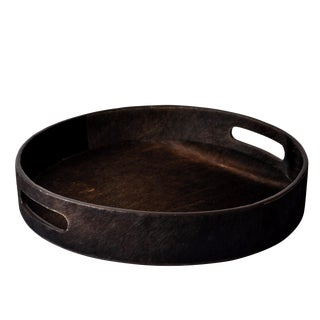 Modern Leather Round Tray
