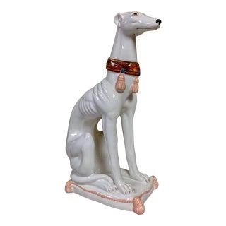 1970s Hollywood Regency Style Ceramic Whippett For Sale