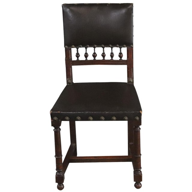 Renaissance Dining Chairs Henry II Renaissance Walnut Brown - Set of 6 For Sale - Image 3 of 10