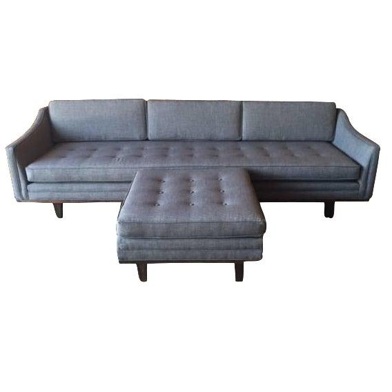 Mid Century Style Sofa: Mid-Century-Style Tufted Sofa With Ottoman