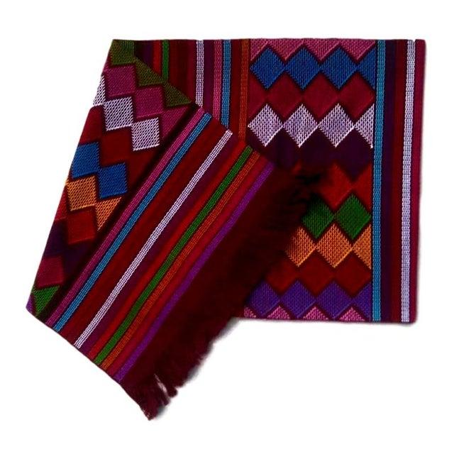 Chiapas Red Bed Runner or Table Runner For Sale