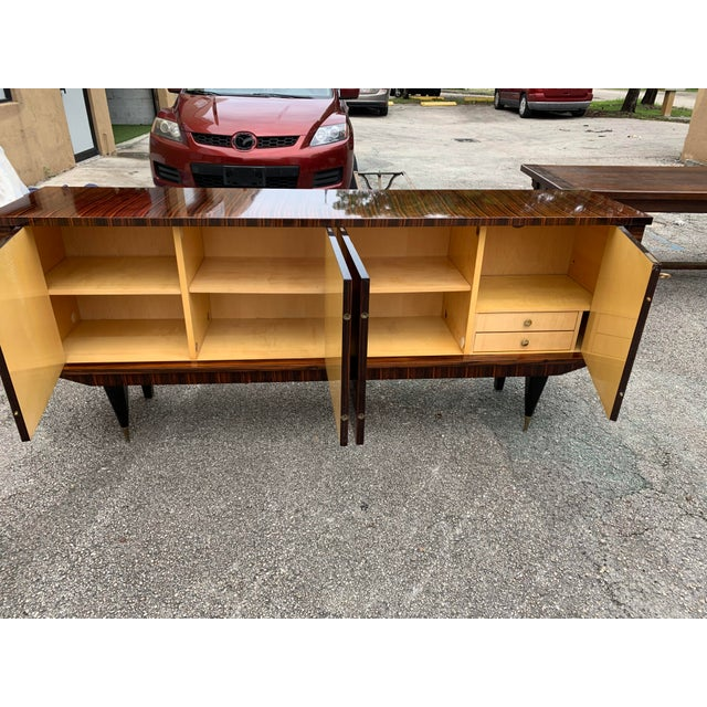 1940s Art Deco Exotic Macassar Ebony Sideboard/Credenza For Sale - Image 11 of 13