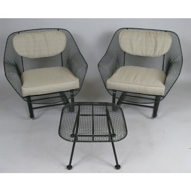 Contemporary Woodard Sculptura Lounge Chairs & Ottoman - Set of 3 For Sale - Image 3 of 7