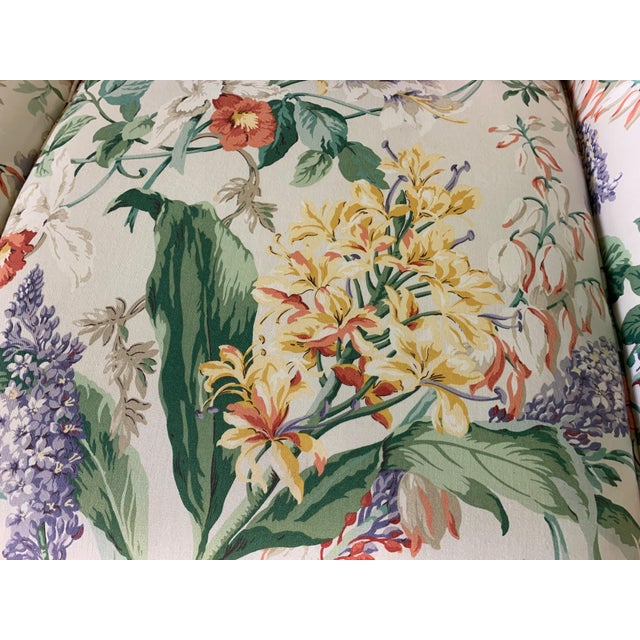 Floral Upholstered Sofas by Robb and Stucky - A Pair For Sale - Image 6 of 10