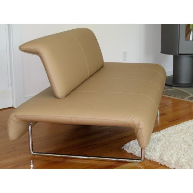 """B&B Italia Contemporary Modern B&B Italia Tan Leather """"Cloud"""" Sofa For Sale - Image 4 of 4"""