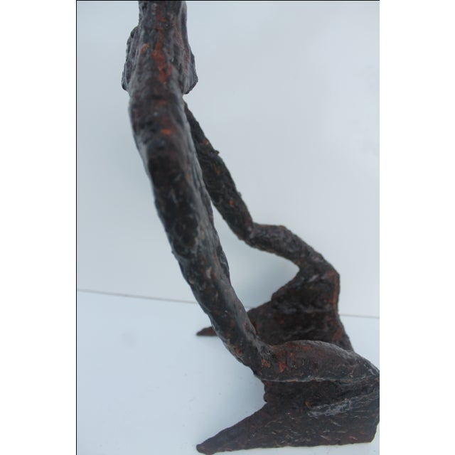 Vintage Brutalist Torch Cut Metal Sculpture - Image 8 of 11