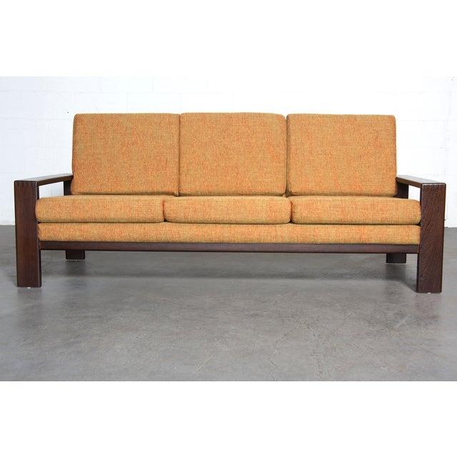 Wenge Modern 1970's Three-Seater Sofa - Image 3 of 11
