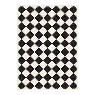 Black & White Diamond European Design Rug - 5' X 7'