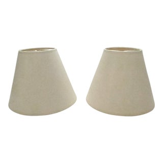 Off-White Lamp Shades - a Pair For Sale