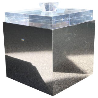 Albrizzi Italia Lucite Ice Bucket For Sale