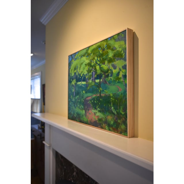 "Stephen Remick ""S-Curve by the Beech Tree"" Landscape Painting For Sale - Image 10 of 11"