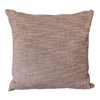 Contemporary Linen and Velvet Pillow For Sale