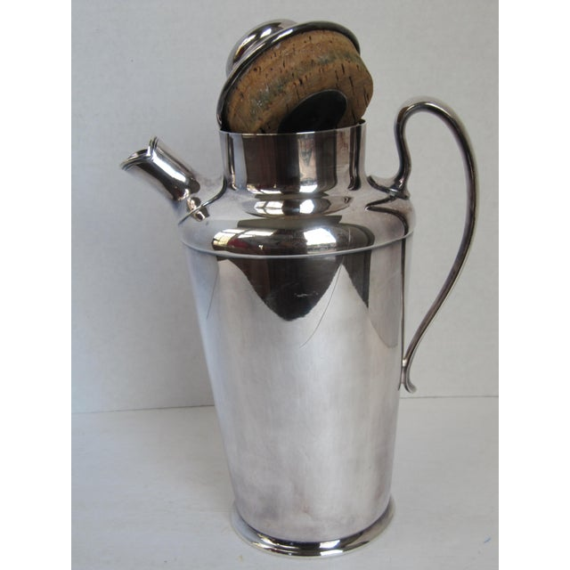 """Art Deco Drink Pitcher with Initial """"D"""" For Sale - Image 9 of 11"""