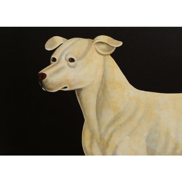 Realism William Skilling, Irish Hound Dog, Oil on Canvas, Signed For Sale - Image 3 of 7