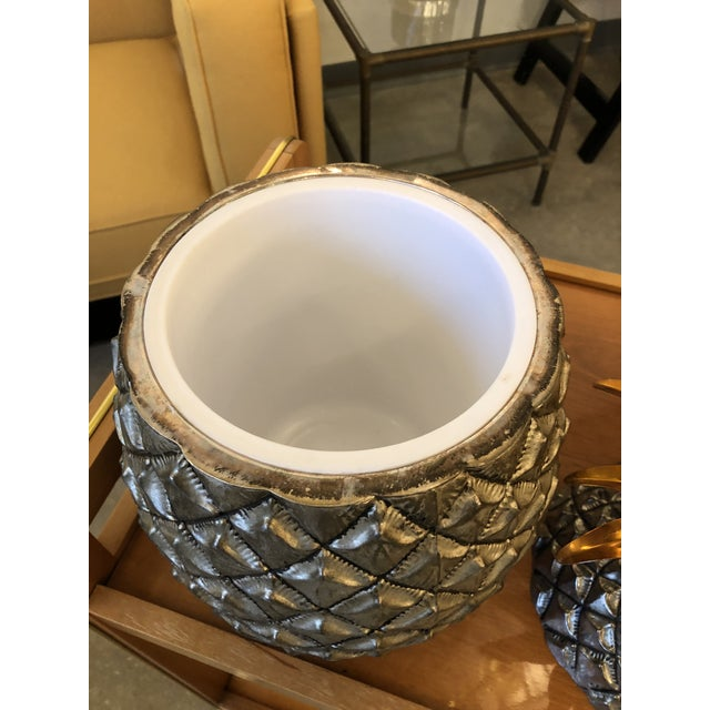 Mid Century Modern Italian Mauro Manetti Pineapple Ice Bucket - Image 2 of 6