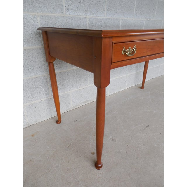 Cherry Wood L & JG Stickley Cherry Valley 2 Drawer Writing Desk For Sale - Image 7 of 11