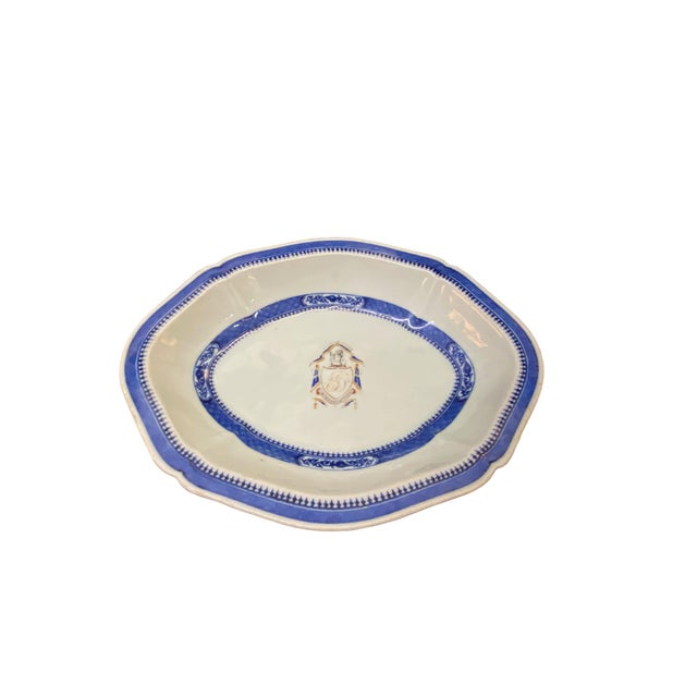 Asian Chinese Export Armorial Platter For Sale - Image 3 of 7