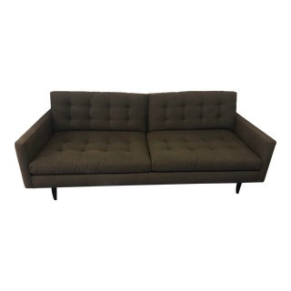 Mid-Century Modern Style Crate and Barrel Petrie Sofa For Sale