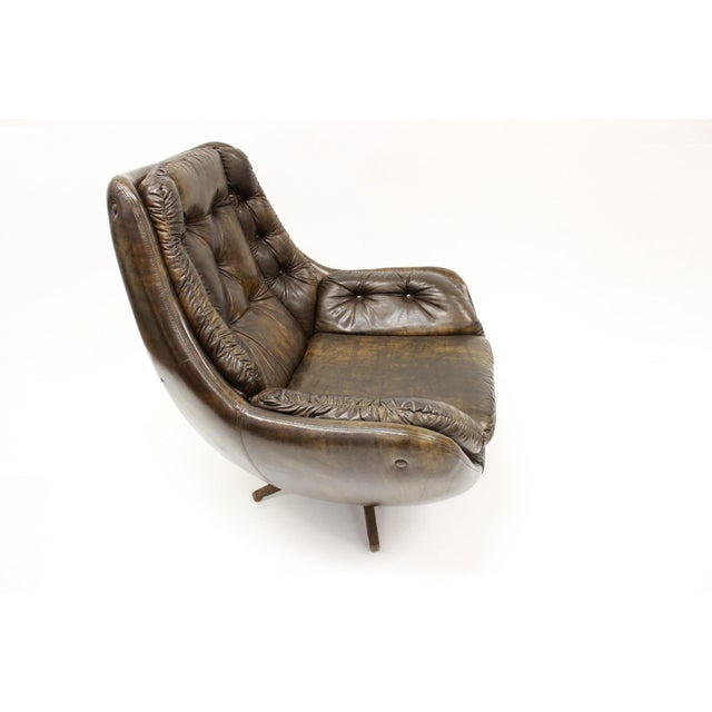 Mid 20th Century Mid Century Modern Carter Lounge Chair and Ottoman For Sale - Image 5 of 13