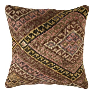 """Muted Mid-Century Kilim Pillow 