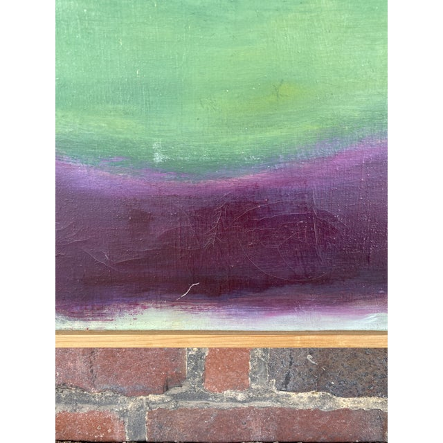 Abstract Mid-Century Modern Signed Abstract Painting For Sale - Image 3 of 7