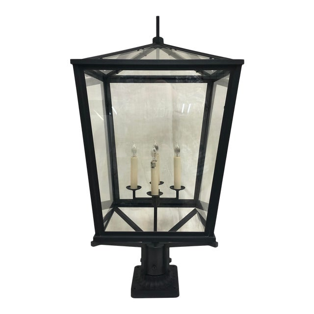 E. F. Chapman Darlana Bronze Post Lantern by Visual Comfort and Co. For Sale