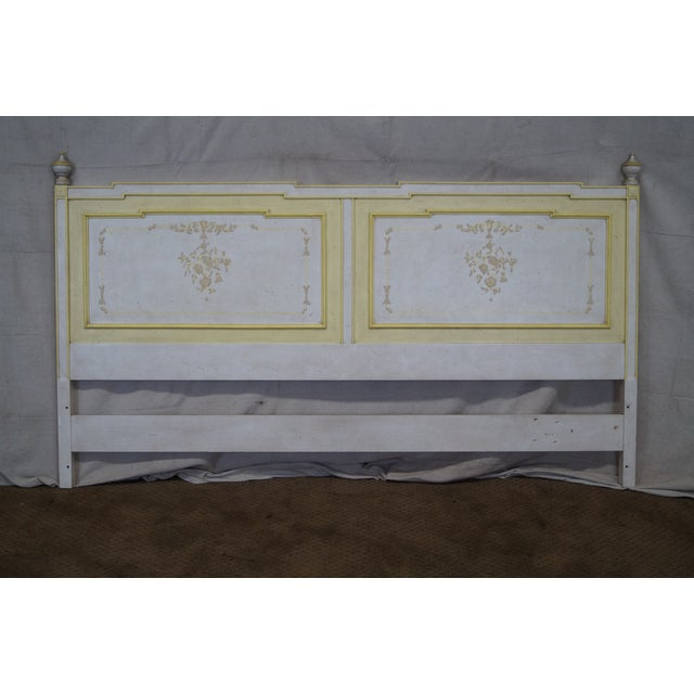Widdicomb Hand Painted French Style King Headboard - Image 2 of 10
