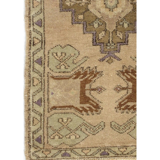 Traditional Vintage Turkish Yastik Hand Knotted Rug 1'7 X 3' For Sale - Image 3 of 4