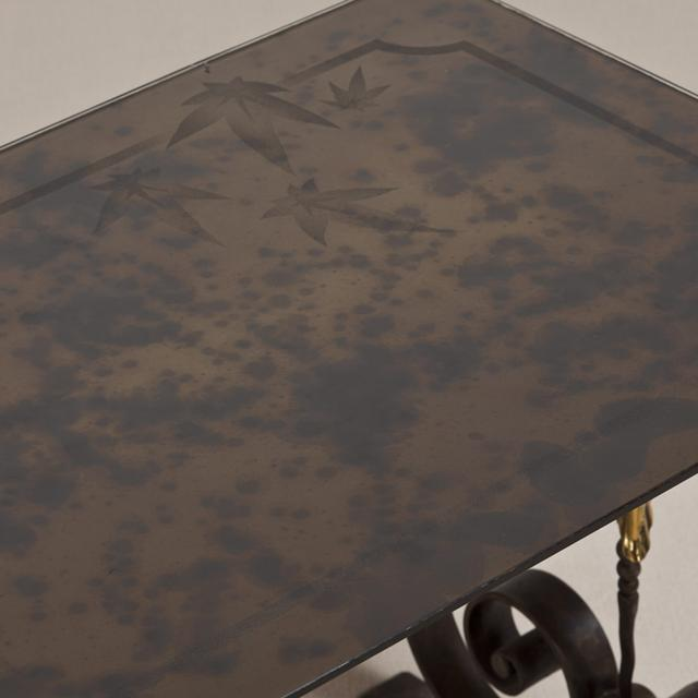 Art Deco A Cast Iron Table in the Manner of Piquet circa 1925 For Sale - Image 3 of 4