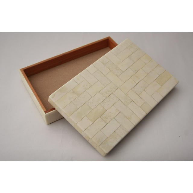 Tessellated Bone Trinket Box - Image 6 of 11